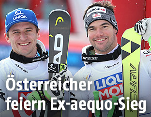 ÖSV-Fahrer Vincent Kriechmayr und Matthias Mayer