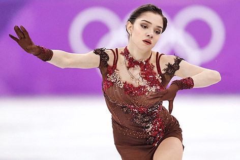Die russische Eiskunstläuferin Jegwenia Medwedewa