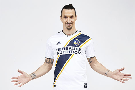 Zlatan Ibrahimovic im LA-Galaxy-Dress