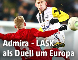 Peter Michorl (LASK) und Thomas Ebner (Admira)