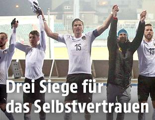Jubel des ÖFB-Teams nach dem Match