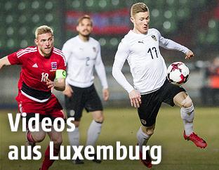 Szene aus dem Spiel Luxemburg - Österreich