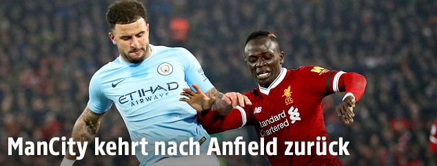 Szene aus dem Match Manchester City gegen Liverpool