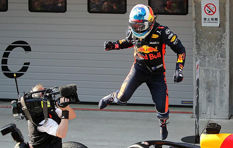 Jubel von Daniel Ricciardo (Red Bull)