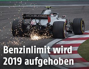 Formel-1-Auto von hinten