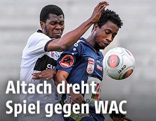 Yusuf Otubanjo (Altach) und Majeed Ashimeru (WAC)
