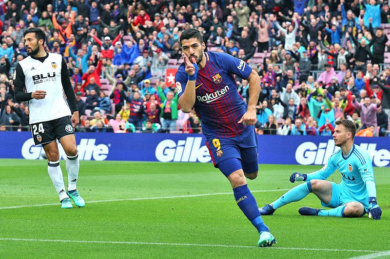 Jubel von Luis Suarez (Barcelona)