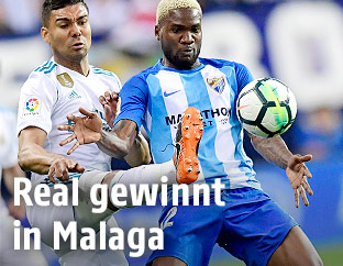 Casemiro (Real Madrid) und Brown Ideye (Malaga)