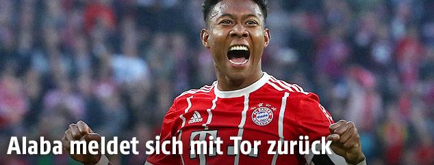 Jubel von David Alaba (Bayern München)