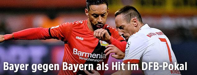Karim Bellarabi und Franck Ribery