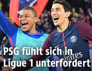 PSG-Spieler jubeln