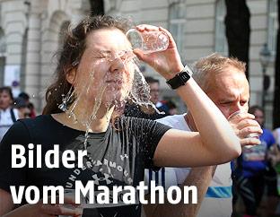 Läuferin während des Vienna City Marathons