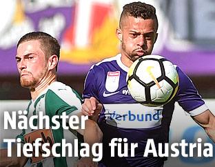 Andreas Gruber (Mattersburg) und Lucas Henrique Ferreira Venuto (Austria)