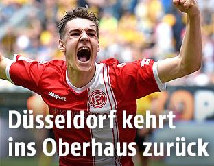 Jubel von Florian Neuhaus (Fortuna Düsseldorf)