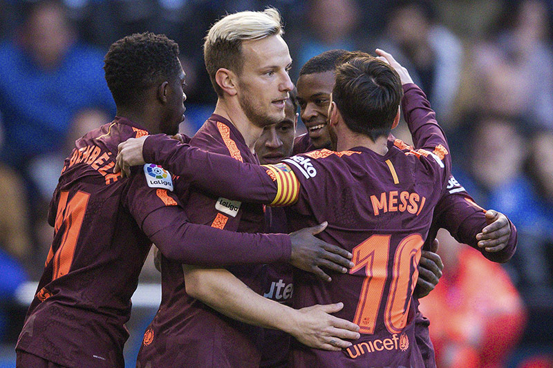 Barca-Spieler jubeln