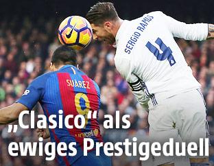 Spielszene zwischen Barcelona und Madrid