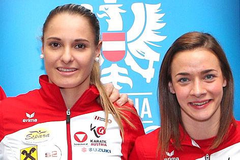 Karate-Kämpferinnen Alisa Buchinger und Bettina Plank