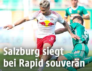 Fredrik Gulbrandsen (RBS) und Stefan Schwab (Rapid)