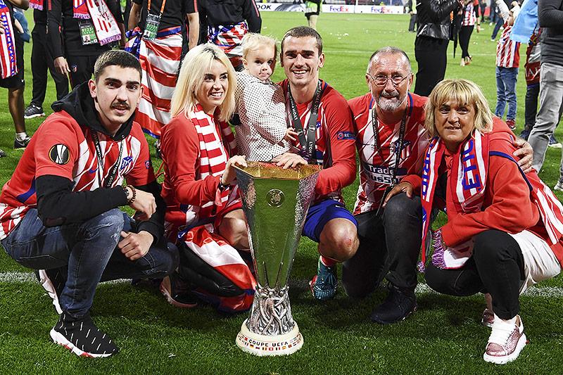 Antoine Griezmann mit Familie