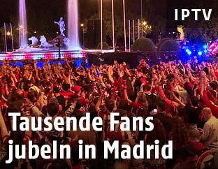 Fans von Atletico Madrid feiern