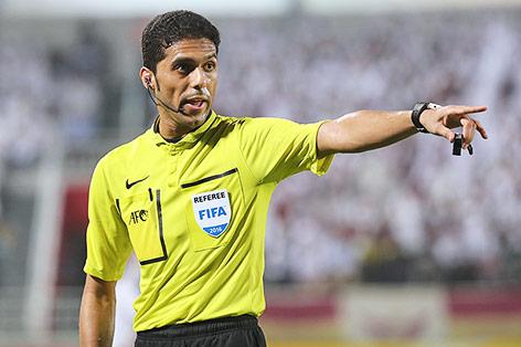 Der saudische Schiedsrichter Fahad al-Mirdasi Karim Jaafar