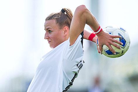 Die österreichische Abwehrspielerin Virginia Kirchberger