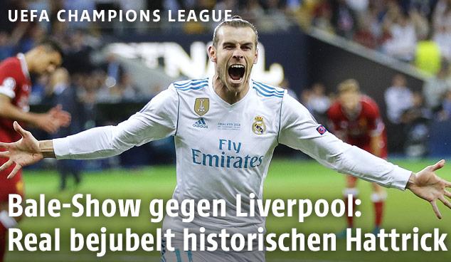 Jubel von Gareth Bale (Real)