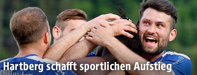 Jubel von Hartberg-Spielern
