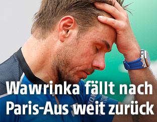 Stan Wawrinka ist frustriert