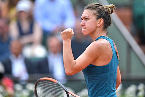 Jubel der rumänischen Tennisspielerin Simona Halep
