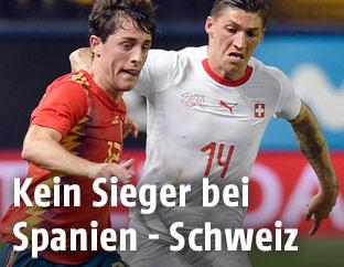 Spielszene Spanien - Schweiz