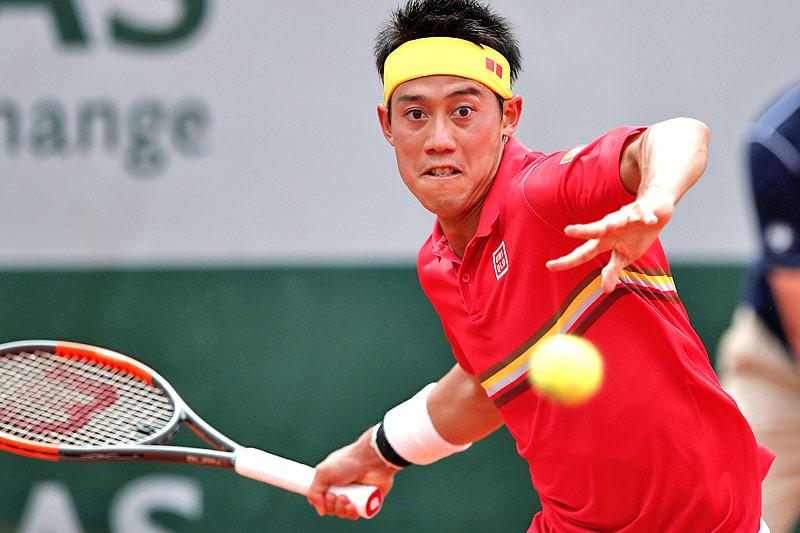 Der japanische Tennisspieler Kei Nishikori
