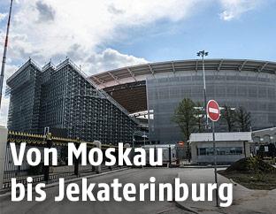 Die Ekaterinburg Arena in Yekaterinburg