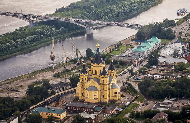 Die Alexander Newsky Kathedrale in Nischni Nowgorod
