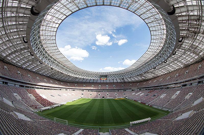 Das Luzhniki Stadion in Moskau