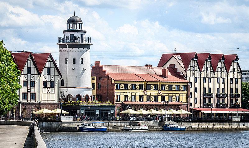 Das Fischerdorf in Kaliningrad