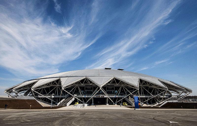 Die Kosmos Arena in Samara