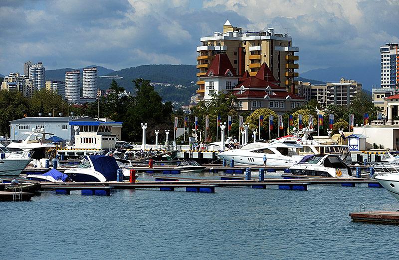 Der Hafen in Sotchi
