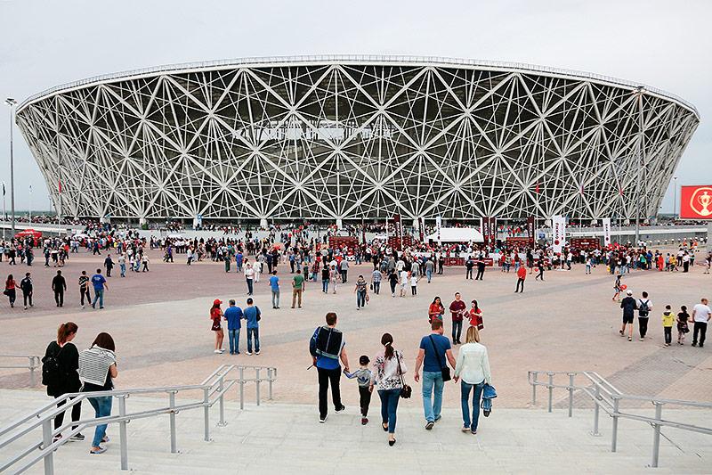 Das Weltmeisterschaftsstadion in Wolgograd
