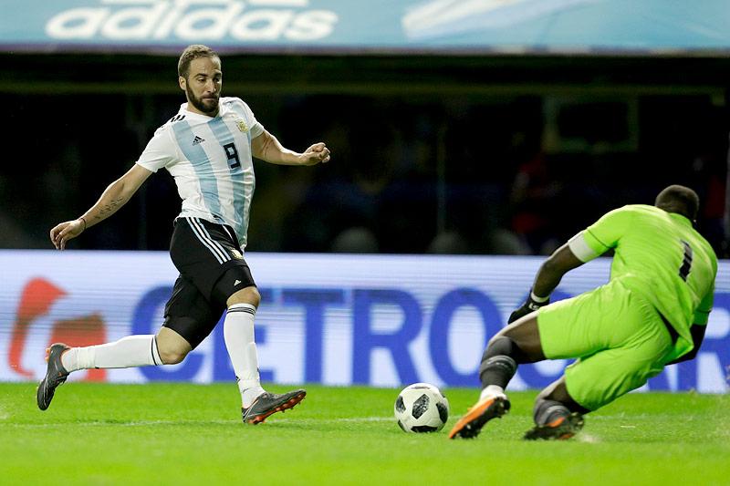 Argentiniens Gonzalo Higuain im Testspiel gegen Haiti