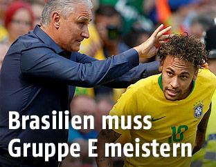 Brasiliens Teamchef Tite und Neymar