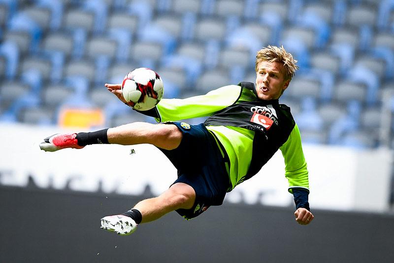 Schwedens Emil Forsberg im Training