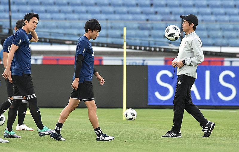 Japans Spieler beim Training