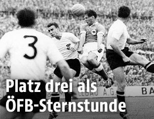 Ernst Happel, Erich Probst, Max Morlock und Ernst Ocwirk