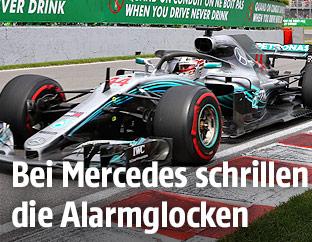 Mercedes von Lewis Hamilton auf der Strecke