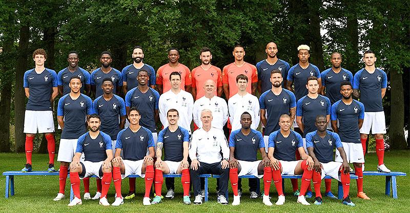 Gruppenfoto der französischer Nationalmannschaft