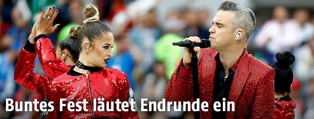 Robbie Williams singt bei der Eröffnungsshow