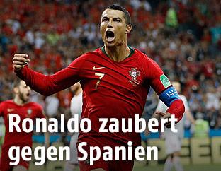 Jubel von Christiano Ronaldo (Portugal)