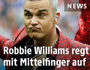 Robbie Williams bei der WM-Eröffnungsshow