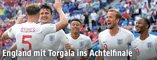 Jubel der englischen Teamspieler